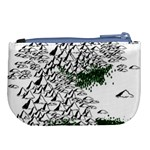 Montains Hills Green Forests Large Coin Purse Back