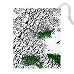 Montains Hills Green Forests Drawstring Pouch (XXL) Front