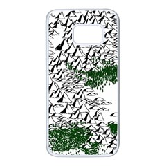 Montains Hills Green Forests Samsung Galaxy S7 White Seamless Case