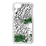 Montains Hills Green Forests Apple iPhone 7 Seamless Case (White) Front
