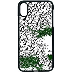 Montains Hills Green Forests Apple Iphone X Seamless Case (black)