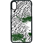 Montains Hills Green Forests Apple iPhone X Seamless Case (Black) Front