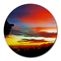 Sunset Mountain Indonesia Adventure Round Mousepads