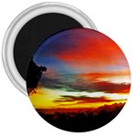 Sunset Mountain Indonesia Adventure 3  Magnets Front