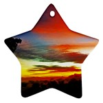 Sunset Mountain Indonesia Adventure Ornament (Star) Front