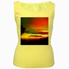 Sunset Mountain Indonesia Adventure Women s Yellow Tank Top by Nexatart