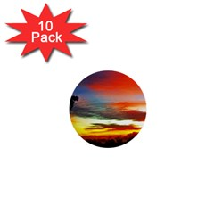 Sunset Mountain Indonesia Adventure 1  Mini Buttons (10 pack)