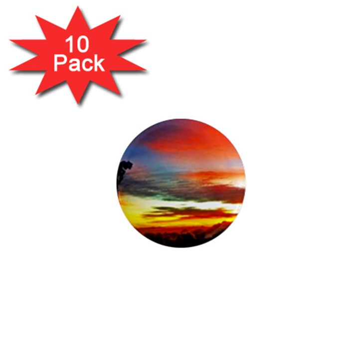 Sunset Mountain Indonesia Adventure 1  Mini Magnet (10 pack)
