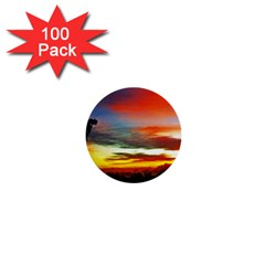 Sunset Mountain Indonesia Adventure 1  Mini Buttons (100 pack)