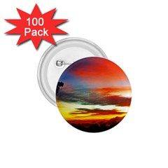 Sunset Mountain Indonesia Adventure 1 75  Buttons (100 Pack)  by Nexatart