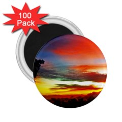 Sunset Mountain Indonesia Adventure 2 25  Magnets (100 Pack)  by Nexatart