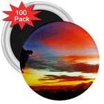 Sunset Mountain Indonesia Adventure 3  Magnets (100 pack) Front