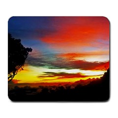Sunset Mountain Indonesia Adventure Large Mousepads by Nexatart