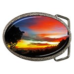 Sunset Mountain Indonesia Adventure Belt Buckles Front