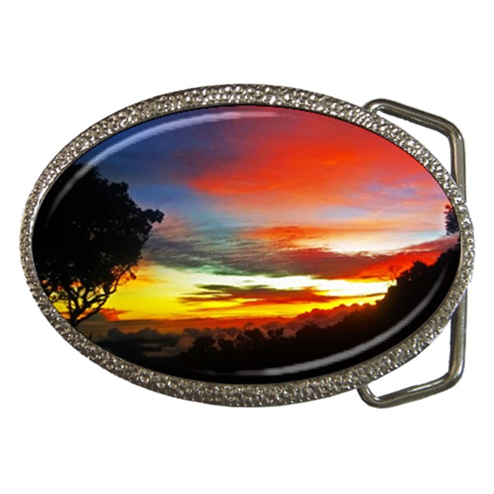 Sunset Mountain Indonesia Adventure Belt Buckles