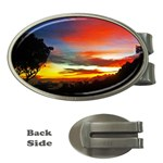 Sunset Mountain Indonesia Adventure Money Clips (Oval)  Front