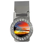 Sunset Mountain Indonesia Adventure Money Clips (CZ)  Front