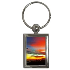 Sunset Mountain Indonesia Adventure Key Chains (rectangle)  by Nexatart