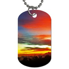 Sunset Mountain Indonesia Adventure Dog Tag (One Side)