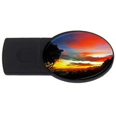 Sunset Mountain Indonesia Adventure Usb Flash Drive Oval (2 Gb)