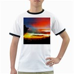 Sunset Mountain Indonesia Adventure Ringer T Front