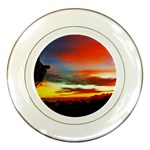 Sunset Mountain Indonesia Adventure Porcelain Plates Front