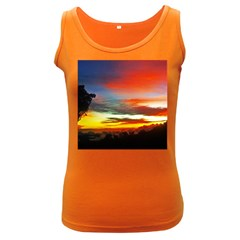 Sunset Mountain Indonesia Adventure Women s Dark Tank Top