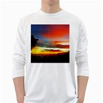 Sunset Mountain Indonesia Adventure Long Sleeve T-Shirt Front