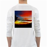 Sunset Mountain Indonesia Adventure Long Sleeve T-Shirt Back