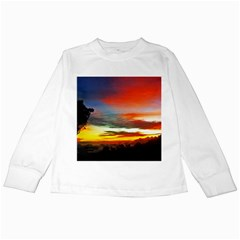 Sunset Mountain Indonesia Adventure Kids Long Sleeve T-Shirts