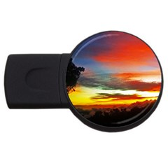 Sunset Mountain Indonesia Adventure USB Flash Drive Round (4 GB)