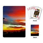 Sunset Mountain Indonesia Adventure Playing Cards Single Design Back