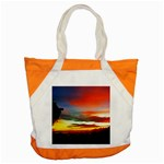Sunset Mountain Indonesia Adventure Accent Tote Bag Front