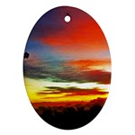 Sunset Mountain Indonesia Adventure Oval Ornament (Two Sides) Back
