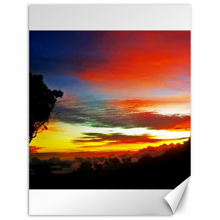 Sunset Mountain Indonesia Adventure Canvas 18  x 24