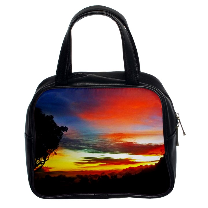 Sunset Mountain Indonesia Adventure Classic Handbag (Two Sides)