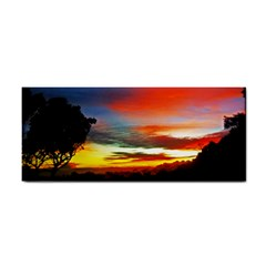 Sunset Mountain Indonesia Adventure Hand Towel by Nexatart