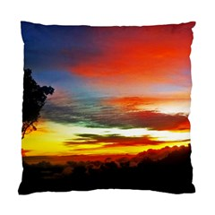 Sunset Mountain Indonesia Adventure Standard Cushion Case (two Sides)