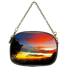 Sunset Mountain Indonesia Adventure Chain Purse (Two Sides)