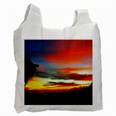 Sunset Mountain Indonesia Adventure Recycle Bag (One Side)