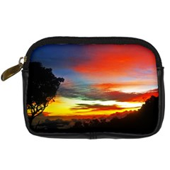 Sunset Mountain Indonesia Adventure Digital Camera Leather Case