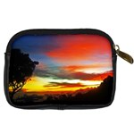 Sunset Mountain Indonesia Adventure Digital Camera Leather Case Back