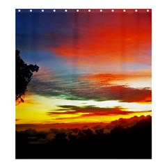 Sunset Mountain Indonesia Adventure Shower Curtain 66  x 72  (Large)
