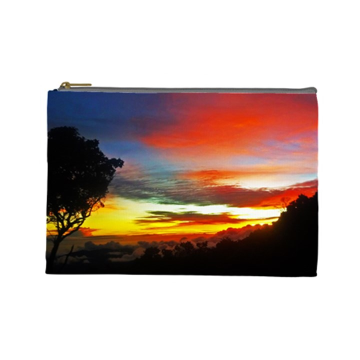 Sunset Mountain Indonesia Adventure Cosmetic Bag (Large)
