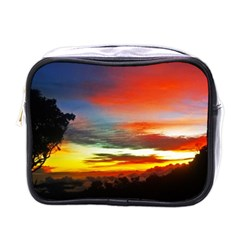 Sunset Mountain Indonesia Adventure Mini Toiletries Bag (one Side) by Nexatart