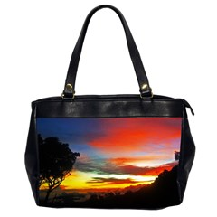 Sunset Mountain Indonesia Adventure Oversize Office Handbag (2 Sides)