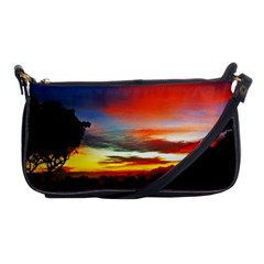 Sunset Mountain Indonesia Adventure Shoulder Clutch Bag