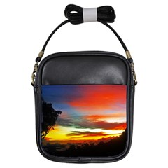 Sunset Mountain Indonesia Adventure Girls Sling Bag