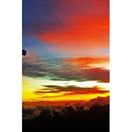 Sunset Mountain Indonesia Adventure 5.5  x 8.5  Notebook Back Cover