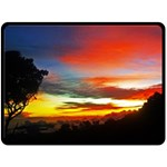 Sunset Mountain Indonesia Adventure Fleece Blanket (Large)  80 x60 Blanket Front